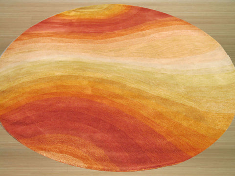 Orange Contemporary Desertland Rug