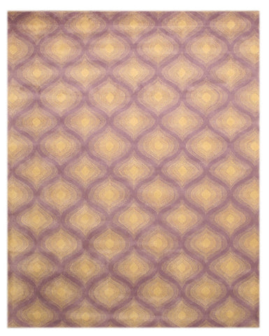 Purple Contemporary Paris Rug