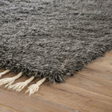 Jaipur Living Tala Hand-Knotted Solid Dark Gray/ Silver Area Rug