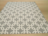 Gray Transitional Links Dhurrie Rug