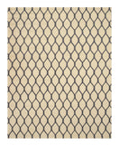 Hand-tufted Wool Ivory Transitional Geometric Chain-Link Rug