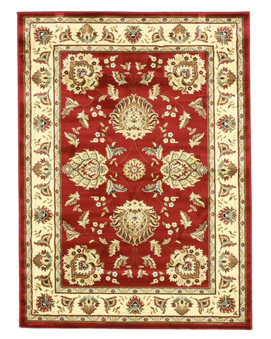 Red Traditional Oriental Allover Kashan Rug