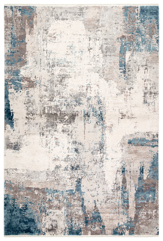 "Jaipur Living Skyler Abstract Gray/ Blue Runner Rug (2'6""X8')"