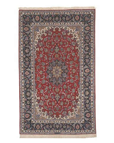 Red Traditional Esfahan Rug, 6'7 x 10'7