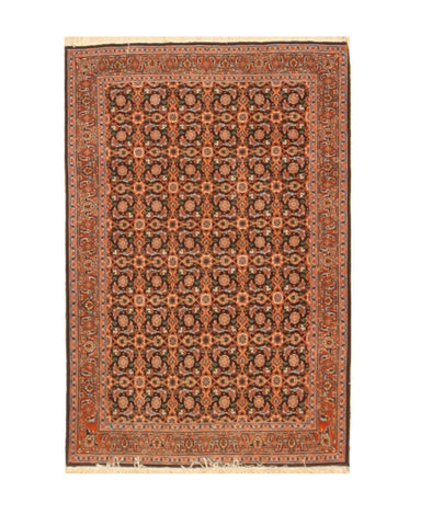 Hand-knotted Wool Blue Traditional Oriental Bidjar Rug