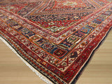 Red Traditional Antique Ghashghai Rug, 12'5 x 18'7
