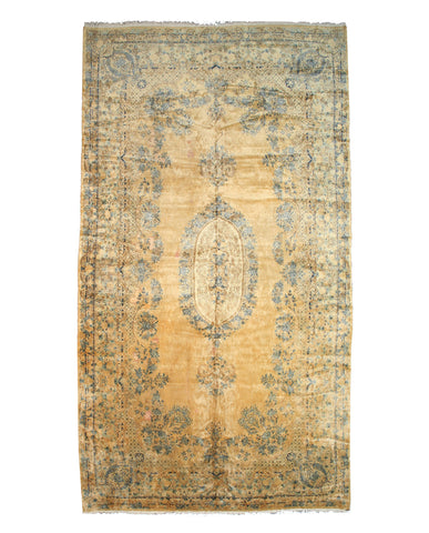 Hand-knotted Wool Spots Traditional Oriental Kerman Rug (11'7 x 21'3)