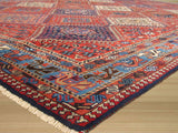 Rust Traditional Yalameh Rug, 6'7 x 9'6