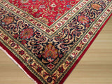 Red Traditional Tabriz Rug, 10' 6 x 18' 8
