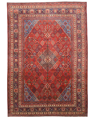 Hand-knotted Wool Rust Traditional Oriental Mei-Mei Rug (9'9 x 13'10)