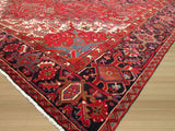 Rust Traditional Heriz Rug, 10' x 13'