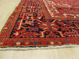 Red Traditional Heriz Rug, 10'2 x 12'9
