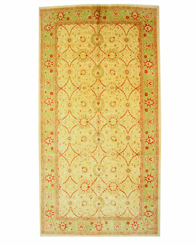 Hand-knotted Wool Ivory Traditional Oriental Mahal Rug (10' x 19'4)
