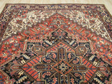 Rust Traditional Heriz Rug, 8'4 x 11'2
