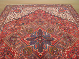 Rust Traditional Heriz Rug, 9'10 x 12'11