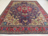 Navy Traditional Tabriz Rug, 8'11 x 11'11