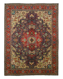 Hand-knotted Wool Navy Traditional Oriental Tabriz Rug (8'11 x 11'11)