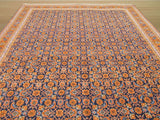 Blue Traditional Mahi Tabriz Rug, 8'7 x 13'10