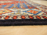Red Traditional Yalameh Rug, 3'5 x 4'10