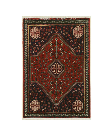 Hand-knotted Wool Rust Traditional Oriental Abadeh Rug (2'2 x 3'3)