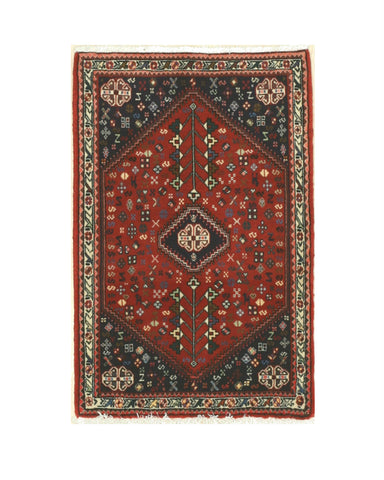 Hand-knotted Wool Rust Traditional Oriental Abadeh Rug (2'4 x 3'5)