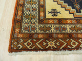 Ivory Traditional Turkman Rug, 2'2 x 2'10
