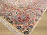 Ivory Traditional Kerman Rug, 11'6 x 19'