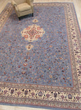 Blue Traditional Sino-Persian Rug