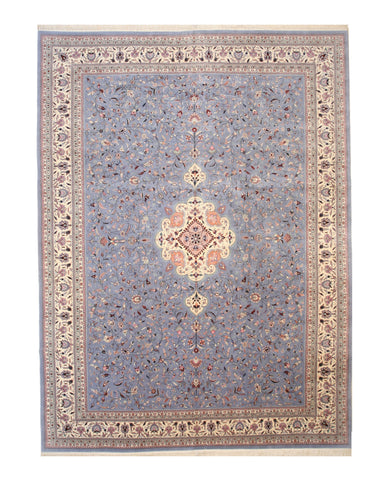 Hand-knotted Wool Blue Traditional Oriental Sino-Persian Rug