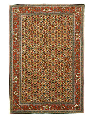 Blue Traditional Tabriz Rug, 6'9 x 9'10