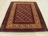 Rust Traditional Baluchi Rug, 2'4 x 2'11