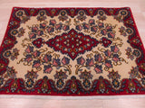 Ivory Traditional Kashan Rug, 2'2 x 3'1