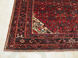 Red Traditional Hosseinabad Rug, 7'1 x 11'2