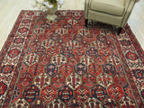 Multicolored Traditional Bakhtiar Rug, 7'1 x 10'2