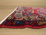 Red Traditional Hamadan Rug, 3'8 x 4'11