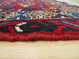 Red Traditional Hamadan Rug, 3'7 x 4'10