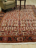 Ivory Traditional Heriz Rug, 6'10 x 9'10