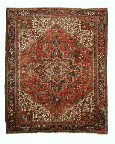 Rust Traditional Heriz Rug, 10'3 x 12'8
