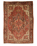 Hand-knotted Wool Rust Traditional Oriental Heriz Rug (8'4 x 11'10)