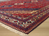 Red Traditional Yalameh Rug, 6'10 x 9'10