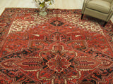 Rust Traditional Heriz Rug, 9'9 x 12'9