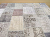 Multicolored Transitional Turkish Patch Rug, 8'6 x 10'3