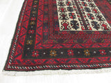 Red Traditional Baluchi Rug, 2'11 x 4'9