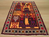 Navy Traditional Baluchi Rug, 2'11 x 4'8