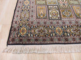 Multicolored Traditional Kashmir Rug, 4'1 x 5'11