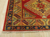 Red Traditional Super Kazak Rug, 2'8 x 7'5