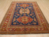 Navy Traditional Super Kazak Rug, 6'11 x 9'7