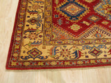 Red Traditional Super Kazak Rug, 6'8 x 9'11