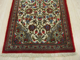 Ivory Traditional Qum Rug, 1'9 x 5'2