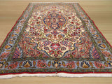 Ivory Traditional Qum Rug, 3'4 x 5'2